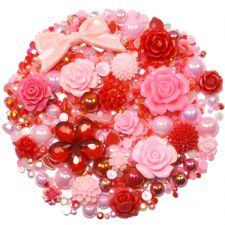 'St VALENTINES' Theme Rhinestone and Cabochon Mix